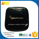 Shiny PVC Leather Toiletry Bag with Gold Silksreen Printing