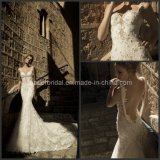 Lace Bridal Dress Vestidos Backless Pearls Wedding Dress Wan47
