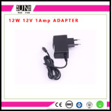 12W LED Adapter, DC12V 1A Adapter, 12W Adaptor, 12V Wall Charger, AC/DC LED Power Adapter