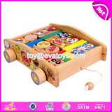 Wholesale Preschool Push Wooden Baby Building Blocks W13c035