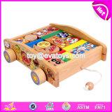 Wholesale Preschool Push Wooden Baby Building Blocks W13c035
