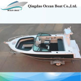 Ce Certificate 5m Plate Fishing Boat with Double Chimes