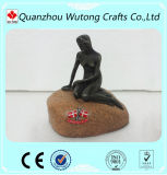 Wholesale Souvenir Design Resin Mini Denmark Mark Mermaid Figurines Decoration