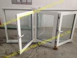 Thermal Break Aluminum Bifolding Tempered Glass Window