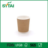 4-16oz Disposable Eco-Friendly Ripple Wall Paper Cup for Coffee From Wuhan China