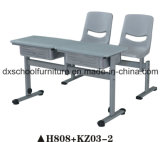 Double Adjustable Height School Desk and Chair Set