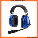 Heavy Duty Headset Dual Earmuff Noise Cancelling Headset