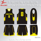 Healong Customized Design Sportswear Sublimation Reversible Basketball Jersey