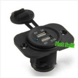 12V Dual USB Car Motorcycle Socket Splitter Power Adapter Charger for Phone