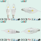 Dimmable 4W CREE Chip E14 Scob LED Candle Lamp (LS-B304-CWWD/CWD)