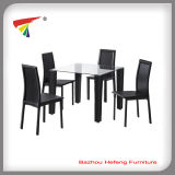 Luxury Cheap Leather Dining Table Set (DT019)