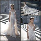 Sheer Neckline Bridal Gown Short Sleeves Betra Wedding Dresses B1608