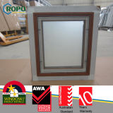 Wooden Look Top Hung Casement Windows with Fixed Screen Inside