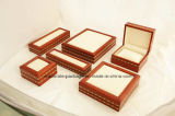 PU Leather Custom Wooden Square Shaped Set Jewellery Boxes
