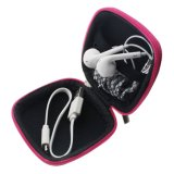 Square Shaped Carrying Storage Bag Earphone Hard Case