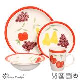 16PCS Fruit Design Lovely Handpainted Ceramic Dinner Set