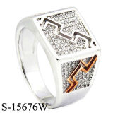 New Designs Factory Wholesale 925 Silver Micro Setting Men Ring.