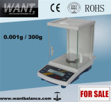 1mg Electronic Load Cell Analytical Laboratory Balance with Glass Windshield