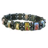 Hematite Bead Bracelet/ Rosary Necklace