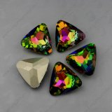 Rainbow Color Point Back Fancy Stones Rhinestones Beads for Jewelry