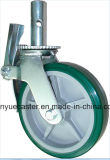Scaffolding Caster with 6in 8in PU Mold-on Steel Wheel