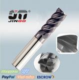Solid Carbide 4 Flutes Flat End Mills