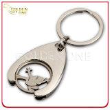 Custom Fine Polished Metal Shopping Trolley Coin Keychain