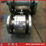Two Pieces Forged Steel Flanged Ball Valve