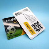 custom logo Ntag216 NFC PVC RFID smart Card with barcode