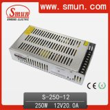 250W 12VDC 20A Switching Power Supply S-250 with CE RoHS