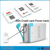 Customized 2600-20000mAh Slim Credit Card Power Bank Charger for Promotion
