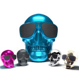 Skull Bluetooth Speaker Wireless Plastic Human Skeleton Sound Box Sunglass Portable Metallic NFC Mic Power Mobile Subwoofer Louds Box