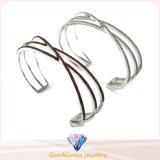 Women New Product High Quality & Low Price Silver Jewelry Bracelet Bangle with CZ Bg0002py