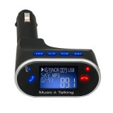 Blue LCD Display FM Transmitter Hands-Free Calling MP3 USB Bluetooth Car Kit
