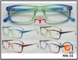 Rhinestone Decoration Double Color Eyewear Reading Glasses (MRP21689)