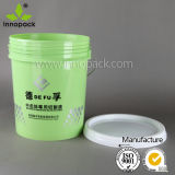 Clear Chemical 20 Liter Plastic Pail Transparent Pail for Lube