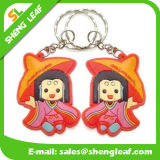 Custom Cartoon Characteristics Soft PVC Rubber Keychain (SLF-KC074)