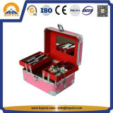 Pink Beauty Makeup Train Case with Mirror (HB-2003)