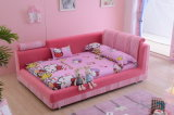 Bed Room Children Furniture Set Fabric Kids Bed E6013