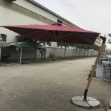 New Model Outdoor Garden Parasol Hotel Patio Umbrella with Wooden Finish Pole 2.5*2.5meters