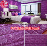 Decorative PVC 3D Soundproof Self Adhesive Brick for Video Room