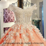 Lace up Custom Made V Neck Wedding Dress