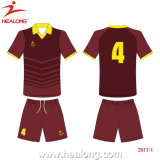 Healong OEM Sportswear Dri Fit Sublimation Football Jersey China (HL00006)