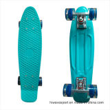 22inch PP Mini Skateboard Cruiser Complete Skateboards Banana Skateboard Blue Design -29