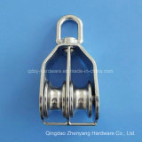 Stainless Steel Swivel Eye Block with Double Sheave