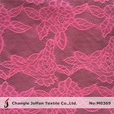Red Flower Net Lace Fabric in Rolls (M0369)