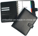 Business Leather Ring Binder Portfolio, Leather Organizer