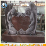 Double Angel and Heart Headstone