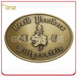Fashion Antique Brass Plated Embossed Metal Belt Buckle