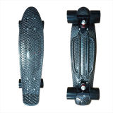 22inch PP Mini Skateboard Cruiser Complete Skateboards Banana Skateboard Black Magic Design -7